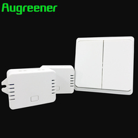 Augreener 2017 New Arrival Remote Control Switch 220V Light Switch Push Button Waterproof 70m Long Range