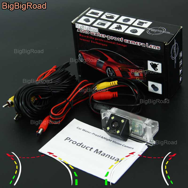 BigBigRoad Car Intelligent Dynamic Track Rear View Camera Backup Reverse Camera For Haima Family / Haima m3 / family 3