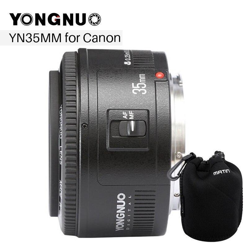 YONGNUO 35 millimetri Lente YN35mm F2 Lens 1:2 AF/MF Wide-Angolo Fisso/Prime Auto Lente di Messa A Fuoco per Canon EF Mount Della Fotocamera EOS EOS 5DII 5 DIII