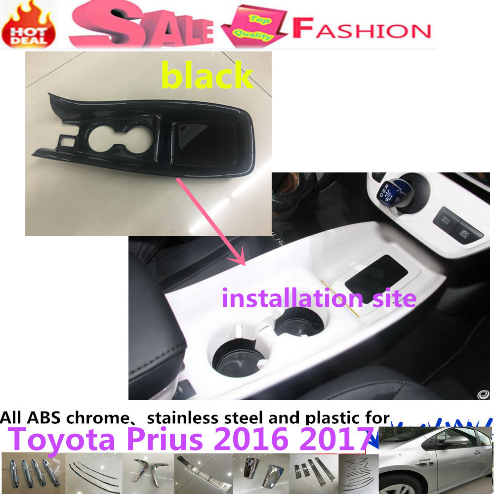 For Toyota Prius 2016 2017 car cover ABS chrome armrest glove Stall Paddles cup switch knob frame lamp trim panel moulding 1pcs