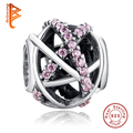 Genuine 925 Sterling Silver Silvery Galaxy Crystal Charm Beads Fit Original Pandora Bracelet Pendant Authentic Equal Jewelry