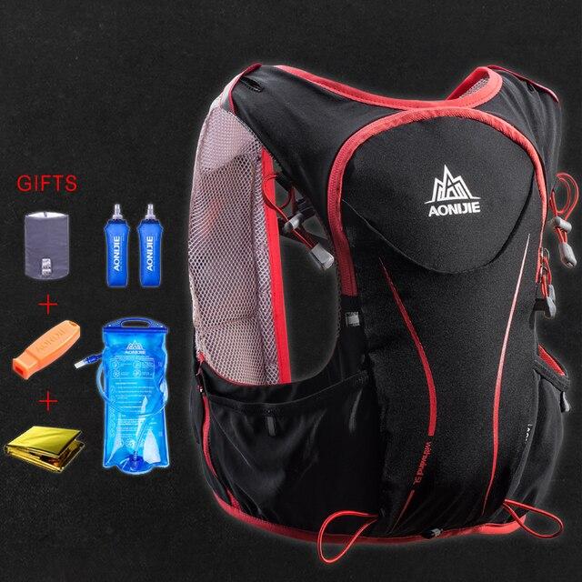 AONIJIE 5L Women Men Marathon Hydration Vest Pack Running Water Bag Cycling Hiking Bag Outdoor Sport light weight Running Bag