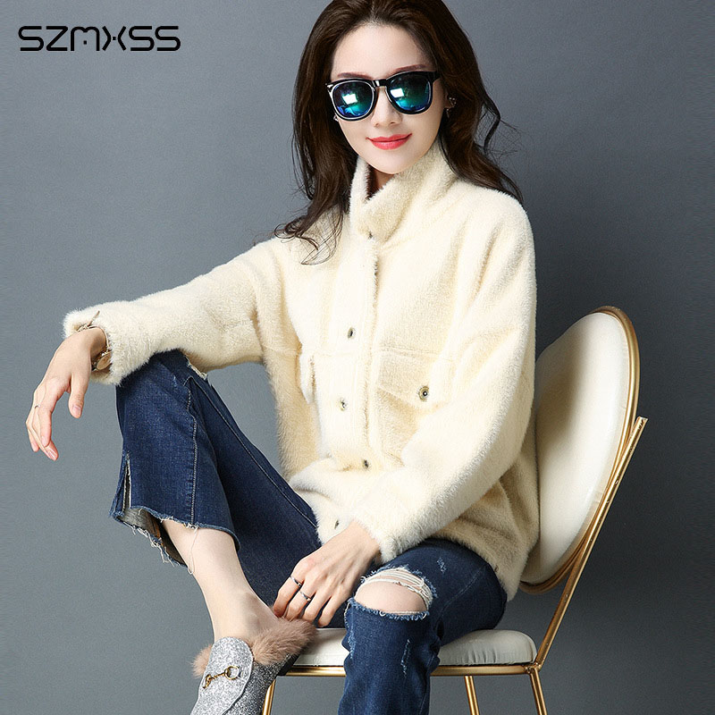 2018 herfst en winter vrouwen jas nieuwe Koreaanse versie lange mouwen jas mode wilde losse korte effen kleur vest jassen-in Eenvoudige Jassen van Dames Kleding op  Groep 3