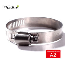 Free shipping 2-20pcs/set all size Stainless Steel 304 Worm Drive high qulity Hose Clamp - Fuel Pipe Tube Clips water