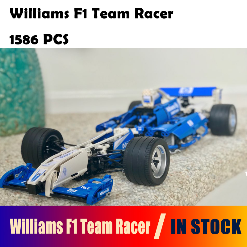 20022 1586Pcs Model Building Blocks toys Williams F1 Team Racer compatible with lego Technic Series 8461 DIY toys & hobbies цена