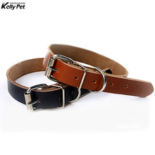 New High PU Leather Solid Soft Pet Dog Collar For Small Medium Large Dogs Neck Strap Adjustable Safe Puppy Kitten Cats