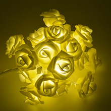 1M / 2M / 3M / 4M / 5M / 10M Rose Flower LED String Lights Holiday Lights til Christmas Wedding Garden Party Valentinsdag Decoration