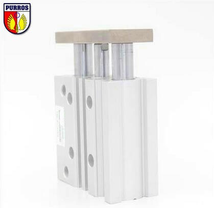 """""""MGPM 32"""" kompaktiškas kreipiamasis cilindras SMC, skylė: 32 mm, taktas: 10/20/30/40/50/60 / 75mm"""