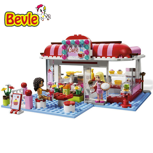 Bevle Bela 10162 Friends City Park COFFEE SHOP Toys Gift Building Block Toys Compatible with LEPIN lepin 22001 pirate ship imperial warships model building block briks toys gift 1717pcs compatible legoed 10210
