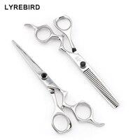 Hair Scissors 6 INCH Japan Hairdressing Scissors Professional Hair Scissors High Quality Black Stone Lyrebird HIGH