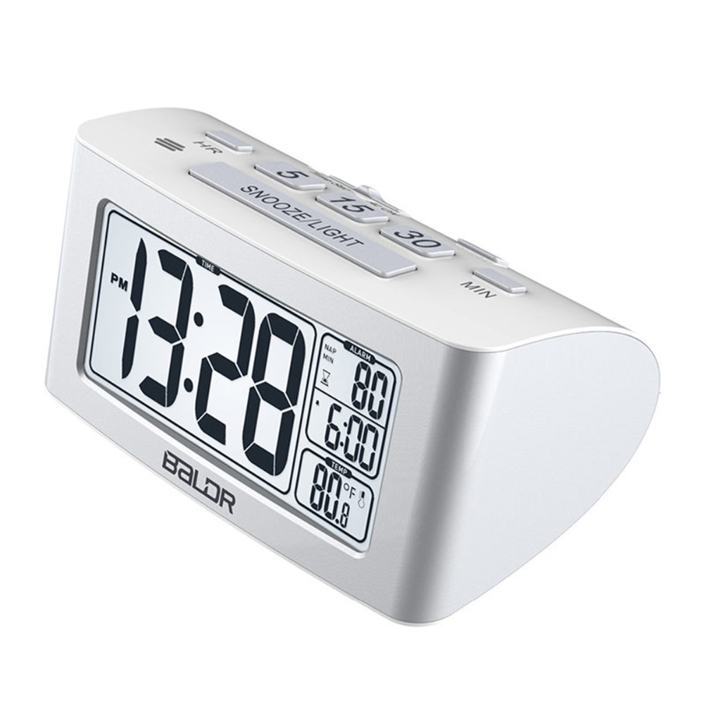 LCD Digital Nap Timer Temperature Time Display Watch Desktop Bedroom Desk Backlight Travel Table Thermometer Snooze Alarm Clock