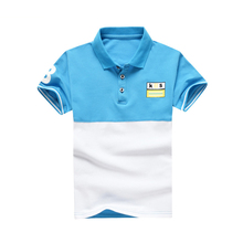 Summer Short Sleeve kid T Shirts Cotton Lapel Tops Casual Boys T shirt Tees 8-16Y School Teenager Children Clothing BC008 недорого