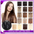 "Beauty Womens Synthetic Hair Extensions Clip In Hair Extensions 22""7pcs 100g Heat Resistance Fibre Hair 16 Colors Available"