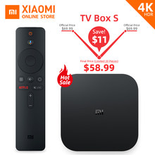 Version mondiale Xiao mi Box S Smart TV 4K Ultra HD 2G 8G Android TV Box WIFI Google Cast Netflix lecteur multimédia IPTV abonnement(China)