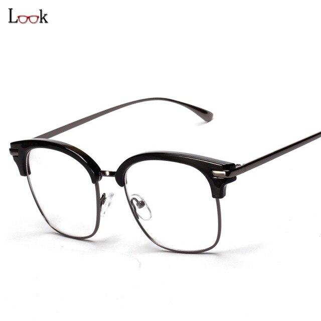 c4ceaaf816 Nuevo 2018 Gafas Retro Marco Cuadrado Gafas Marcos Para Mujeres Hombres  Marco Óptico Anteojos Recetados Claras