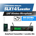 Free Shipping! SLX14 SLX1 UHF Professional Wireless Microphone System With Bodypack Lapel Lavalier Clip Mic Band R5 800-820Mhz