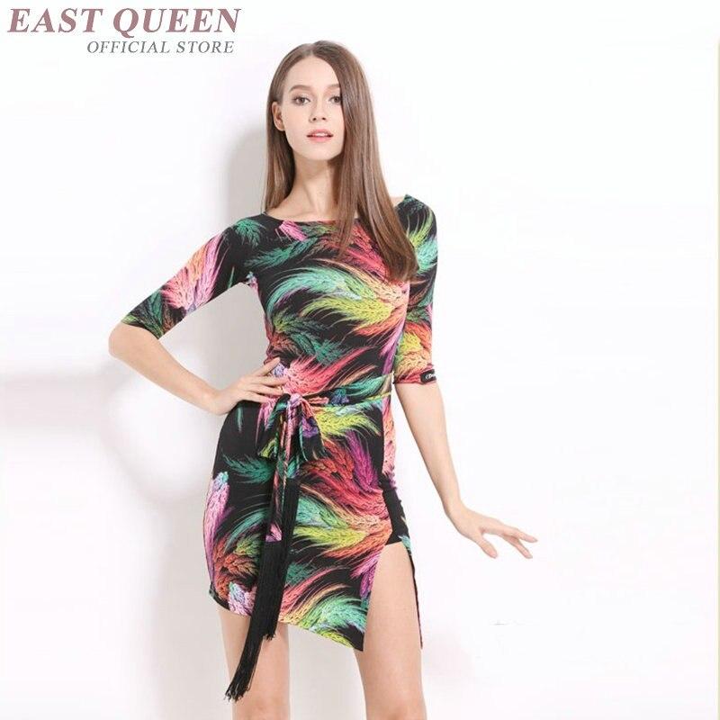 Dress for ballroom dancing latin dance dress womenTango Cha Cha Rumba Samba Latin Dresses floral print
