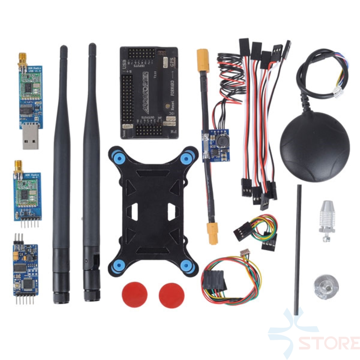 APM 2.6 ArduPilot Flight Controller + GPS + 100mw 3DR Radio Telemetry 915Mhz + Minimosd + Current Sensor apm 2 5 3dr telemetry osd y cable red black white