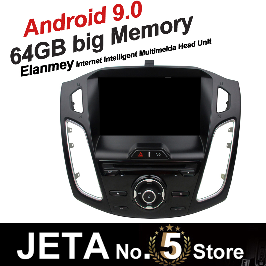 Fit for Focus 2012 2014 Car Radio GPS Music player tape recorder Android 9.0 64GB big memory DSP equalizer IPS touch screen image