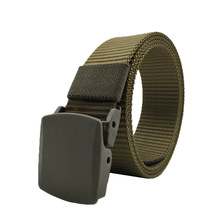 2019 Mens 125cm Nylon Web Belt Webbing POM Plastic Buckle Decorated Fashion Wild Retro Casual Outdoor Male Jeans Tactical belt цена