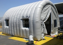 Custom portable 6x3.4x2.7m small car garage workstation inflatable spray booth inflatable tunnel tent with windows sale