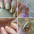 1 Hoja En Relieve 3D Nail Stickers Blooming Flower 3D Nail Art Stickers Decals # BP049 AL #24910
