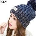 Fashion Unisex New Varicolored Woolen Knitting Hat Women Winter Warm Thicken Slouchy Beanies Knitted Cap Girls Skullies Sep30