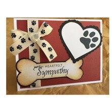 JC Metal Cutting Dies for Scrapbooking Animal Paw Print Heart Folder Paper Die Cut Card Making Stencil Handmade Album Craft