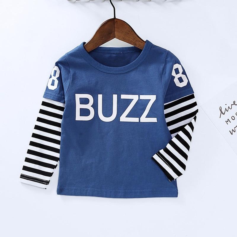 New Spring Boys Girls Cartoon Cotton T Shirts Children Tees Boy Girl Long Sleeve T Shirts Kids Tops Brand Baby Clothes 12M-8Y 27