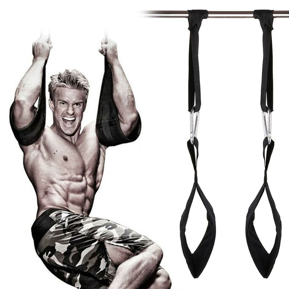 ФОТО Fitness Padded Pull Up Abdominal Muscle Hanging Belt Pullup Carver AB Straps Gym Crossfit Training Home Equipment Max Load 200KG