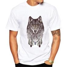 Rey lobo Impresión Hombres de la Camiseta 2017 de Moda de Verano Hombres  Camisetas del Camiseta de la Marca T-Shirt Hombre camis. d3440ded969