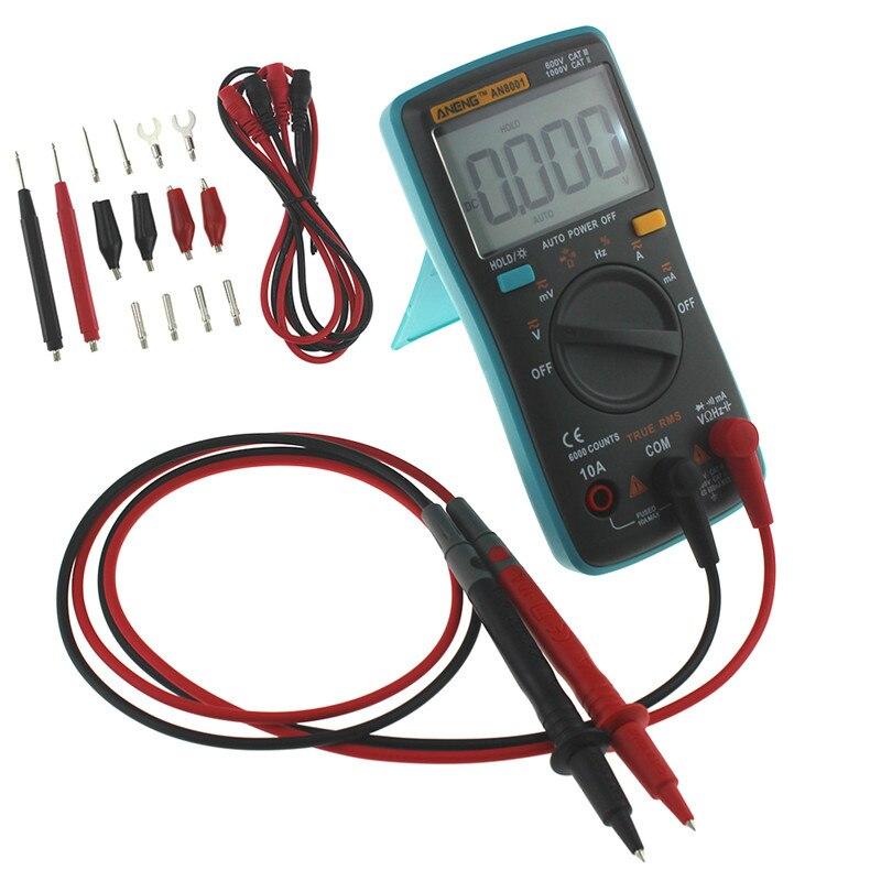 AN8000 AN8001 AN8002 AN8004 Portable LCD Digital Multimeter 6000 Counts Backlight AC/DC Ammeter Voltmeter Ohm Meter Tester