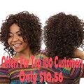 Короткие Afro Kinky Кудрявый Парик Дешевые Синтетические Парики Для Черный женщины Афро-Американской Короткие Парики Короткие Вьющиеся Каштановые Парик Женщины волос