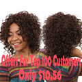 Short Afro Kinky Curly Wig Cheap Synthetic Wigs For Black Women African American Short Wigs Short Curly Brown Wig Womans Hair