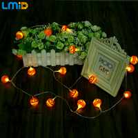 Lmid 3pcs AA Battery LED String Lights 3M 30pcs Halloween Pumpkin Fairy Lighting Party Home Decoration