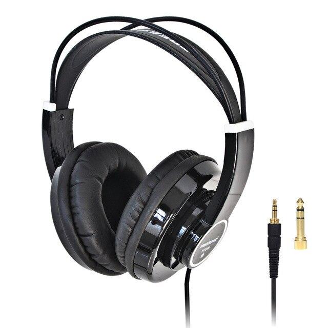 FREEBOSS HP288 ハイファイヘッドフォンセミオープン過耳 3.5 6.3 プラグイン調整と軽量ヘッドバンドハイファイヘッドセットヘッドフォン