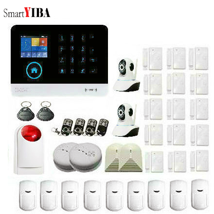 SmartYIBA LCD TFT 3G SIM Alarm System Wireless WIFI Alarm Home + IP Camera for Smart House Security APP Remote GPRS IOS Android SmartYIBA LCD TFT 3G SIM Alarm System Wireless WIFI Alarm Home + IP Camera for Smart House Security APP Remote GPRS IOS Android