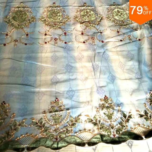 blue curtains tulle Burgundy Cortina curtain decoration curtain for living room Sheet Party Back Sheet Blue Voile curtains