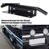 Vehemo Aluminum Alloy Black License Tag Frame License Plate Holder Stylish Number Plate Car Stand Mount