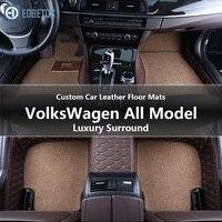 Custom Car Floor Mats for Volkswagen All Models Passat B5 6 Polo Golf Tiguan Jetta Touran Touareg Car Styling Auto Floor Mat