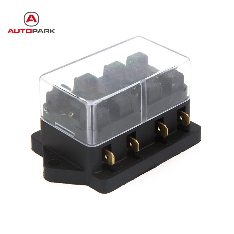 Universal Fuse Box Fuse Holder Car Truck Vehicle 4 Way