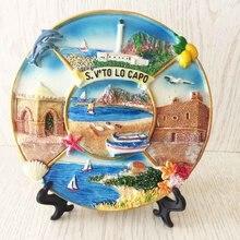 Италия Сицилия, туристические сувениры, трехмерные пейзажные поделки, диски