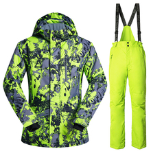 Copozz Brand Winter Ski Suit Mens Snowboard Jacket Pants Waterproof Windproof Thermal Outdoor Skiing Clothes