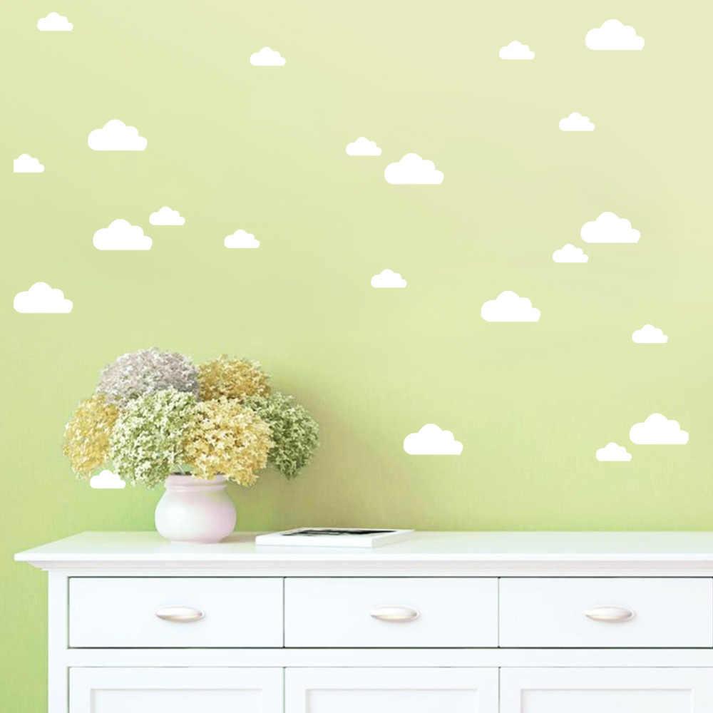 56 יח'\סט ענני קריקטורה קיר מדבקות לילדים חדר תינוק משתלת בית תפאורה שינה חמוד ענני טפט DIY ויניל אמנות קיר