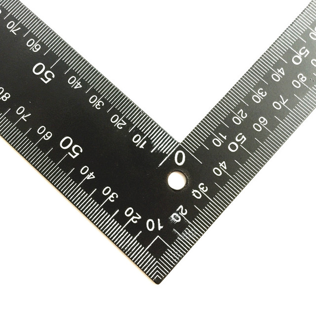 1 pièces règle dangle outil de culture cuir de vachette Type spécial règle à Angle droit outils règle dédiée 30*20 cm pouces et cm échelle
