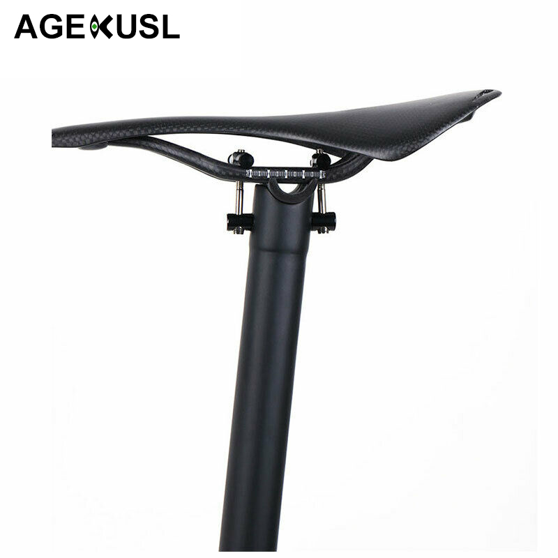 TWTOPSE Carbon Fiber Bicycle Seat Post For Brompton Folding Bike Lightweight 275g Seatpost 31 8mm 580mm