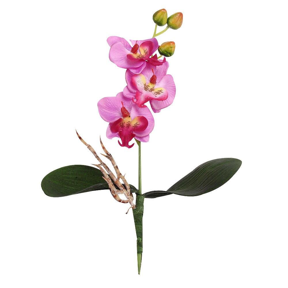Manera de la alta calidad nuevo triple orquídea de flores de seda artificial hea