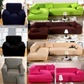 covers on the sofa armchairs couch cover  fabric soild slipcover elastic Corner sofa cover l shaped stretch furniture sofa cover