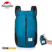 네이처하이크 25L 하이킹 가방 30D 나일론 패브릭 러닝 백 160g 초경량 접이식 방수 배낭 여행 스포츠 캠핑 가방