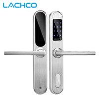 2018 биометрические электронный дверной замок Smart пароль + 4 карты + 2 механические клавиши Keyless кодовый замок Smart вступление офиса дома L18001BS